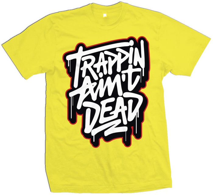 Trappin Ain't Dead Graffiti - Optic Yellow T-Shirt