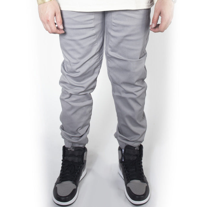 Cool Grey Twill Jogger Pants JG804