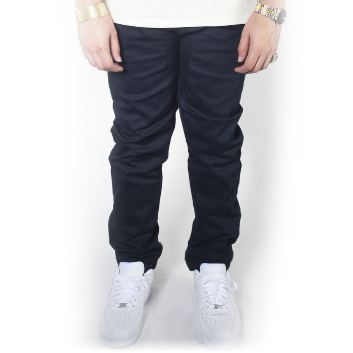 Navy Twill Jogger Pants JG804