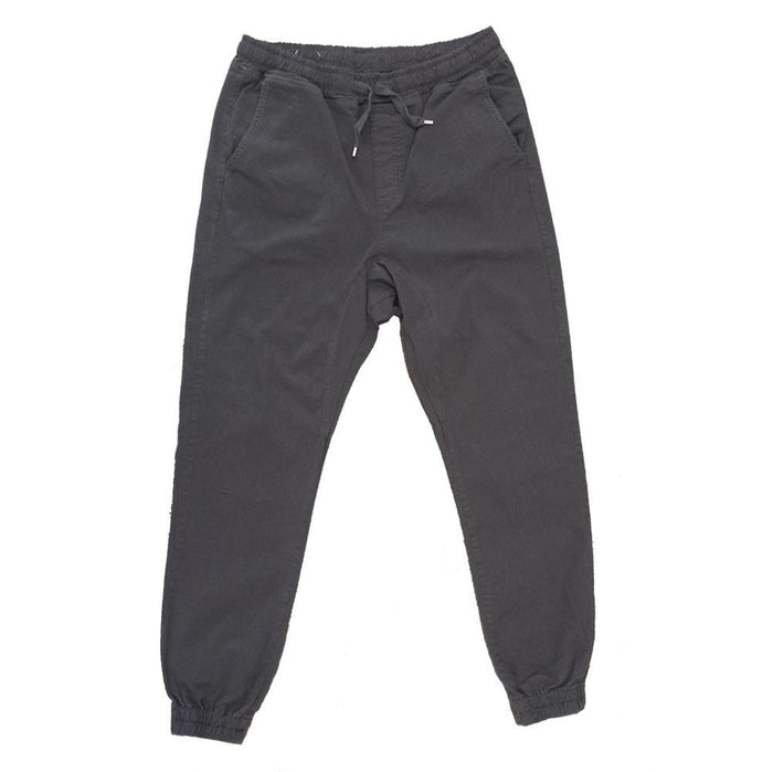 Dark Grey Twill Joggers - Million Dolla Motive