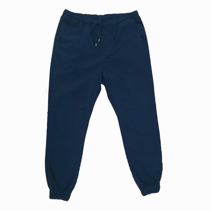 Navy Blue Twill Joggers - Million Dolla Motive