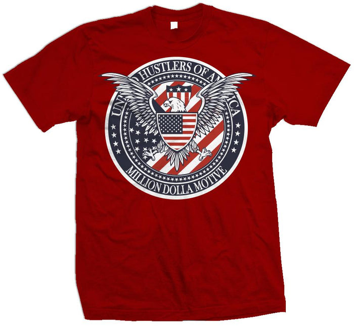United Hustlers of America - Red T-Shirt