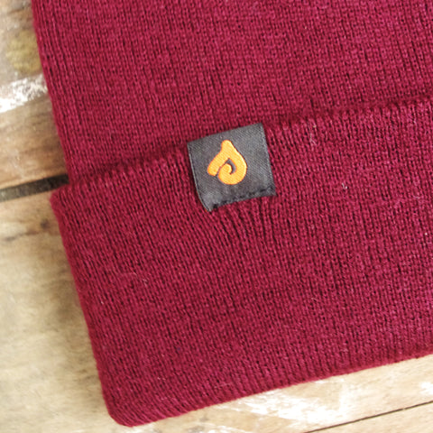 Traditional Beanie Burgundy, Headwear - Supersaturated, Supersaturated  - 2