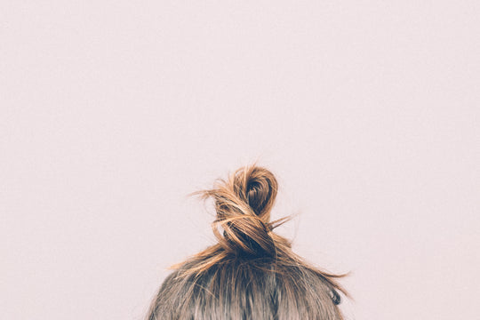 Woman's Hair in Top Knot