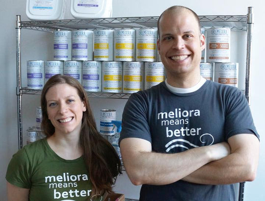 Mike Mayer and Kate Jakubas, Co-founders of Meliora Cleaning Products