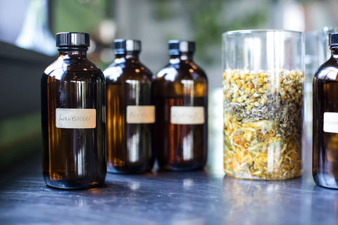 Bottled Botanicals with Ingredients