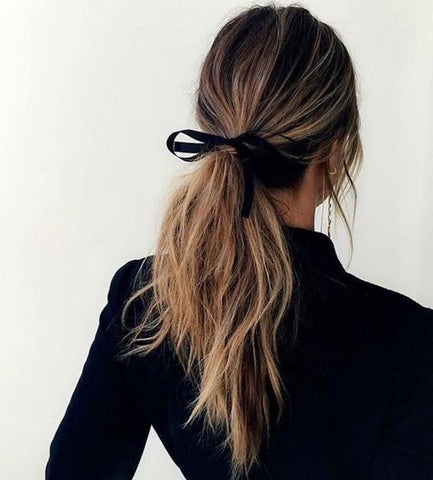 Woman's hair in ponytail