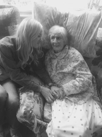 Jen Auerbach with Her Grandmother