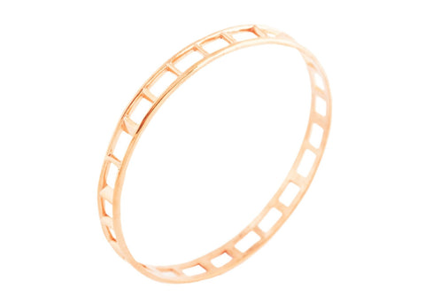 Brilliantine Bangle - Rose Gold