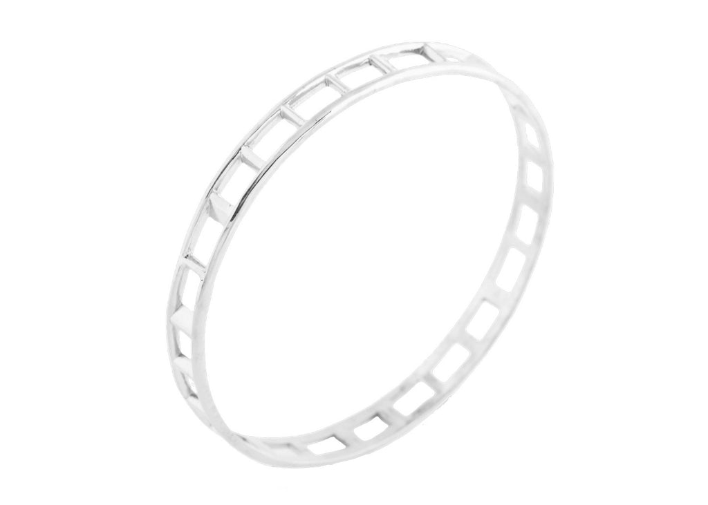 Brilliantine Bangle - Silver