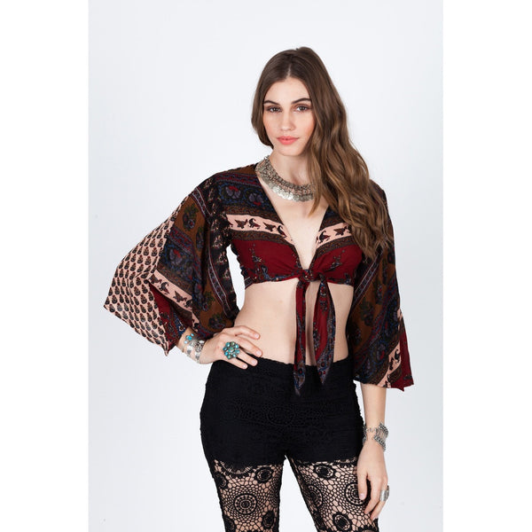 Wild Fire Wrap Top