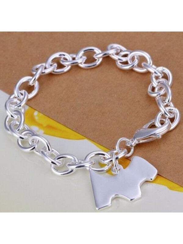 Silver Plated Dog Charm Bracelet - Proceeds go to Animal Rescue