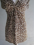 Love Notes Animal Print Top Size M - ruby & sofia