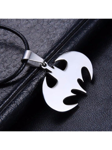 Stainless Steel Laser Cut Batman Pendant Necklace