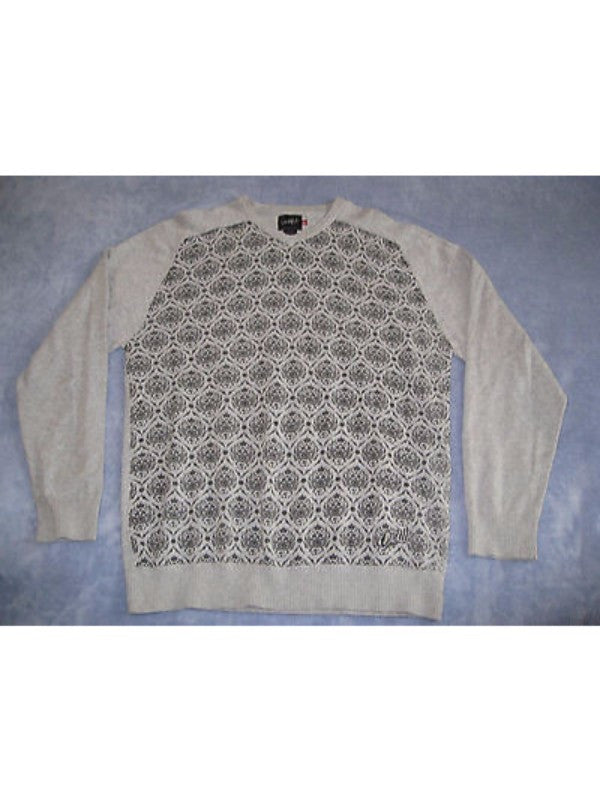 O'Neill Cotton Knit Tribal Monkey Crew V Sweater M