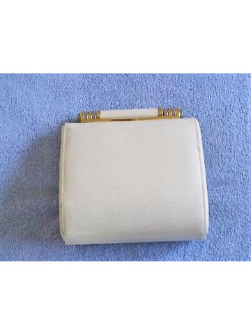 Vintage Carla Mancini Cream Evening Shoulder Bag / Clutch