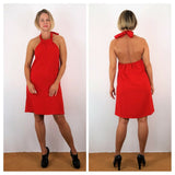 Grifflin Paris 60's Style Halter Cocktail Dress Red or Black S/M/L NWT