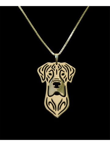 Great Dane 14k Gold Plate or Silver Plate Necklace - Proceeds Go to Animal Rescue