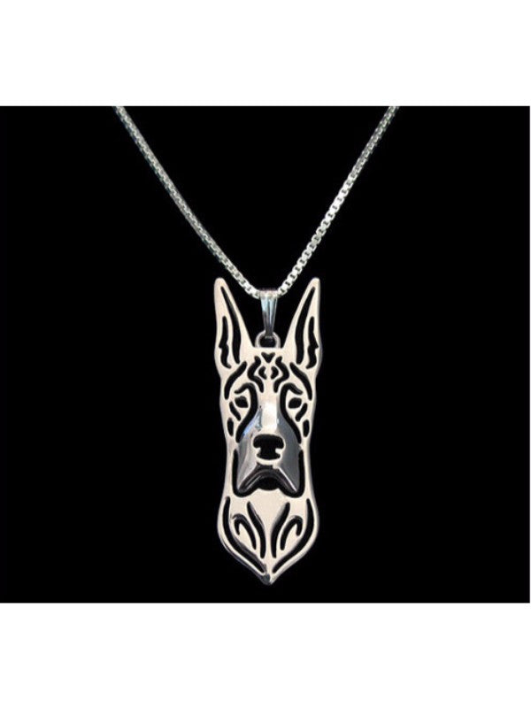 Great Dane Silver Or Gold Plated Necklace - Proceeds Go to Animal Rescue
