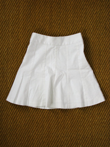 Banana Republic Fit & Flare White Stretch Cotton Skirt 00