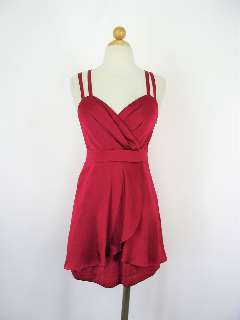 BGeneration Red Berry Strappy Flirty Party Cocktail Dress 2 NWT
