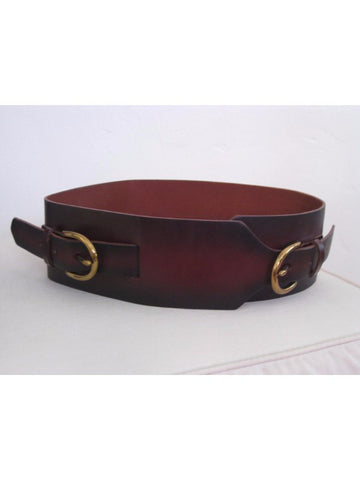 "Tre Vero 3"" Wide Leather Cinch Waist Belt XS"