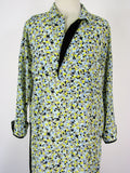 Grifflin Paris Abstract Print Crepe Shirt Dress S/M/L NWT
