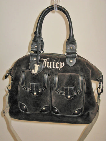 Juicy Couture Brown Velour Diaper / Tote / Carry-on Bag