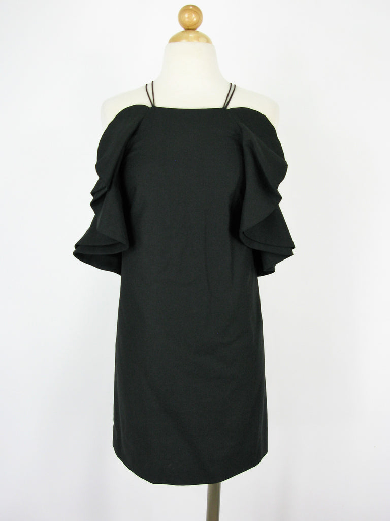 My Story Strappy Ruffle Linen Cocktail Dress S/M/L NWT