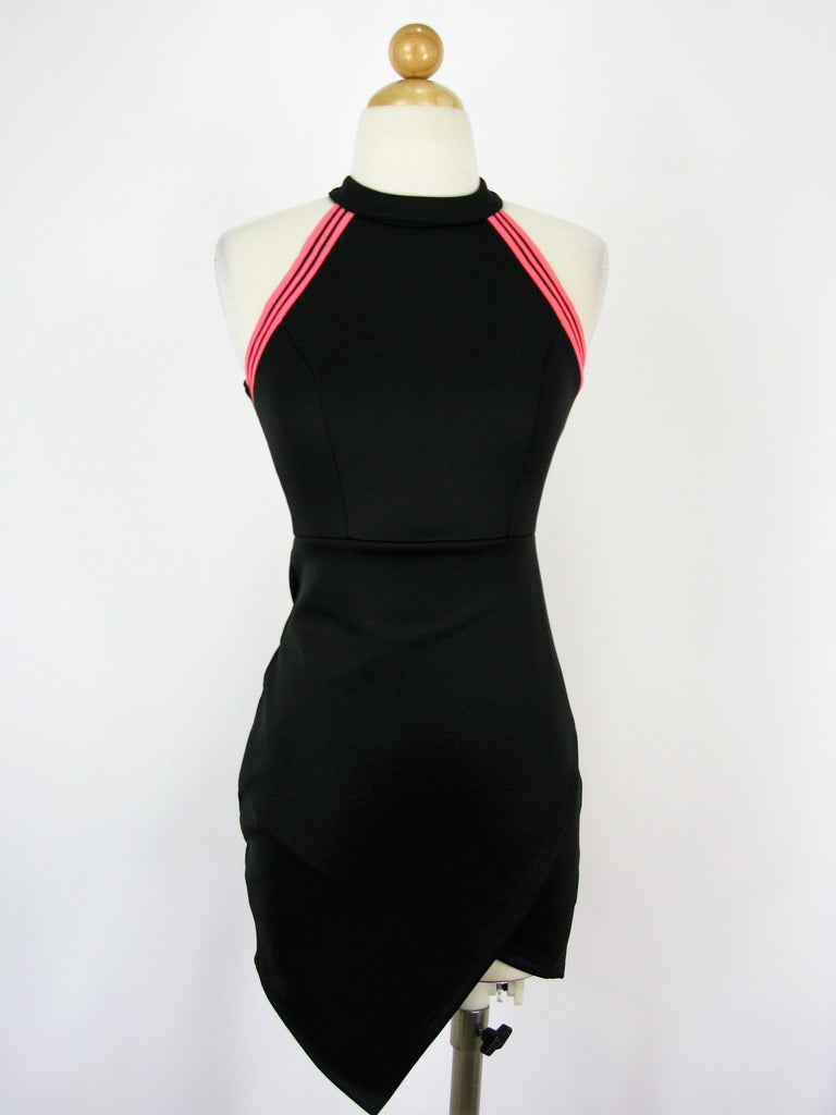 On Twelfth Racerback Bodycon Asymmetrical Dress S/M/L NWT