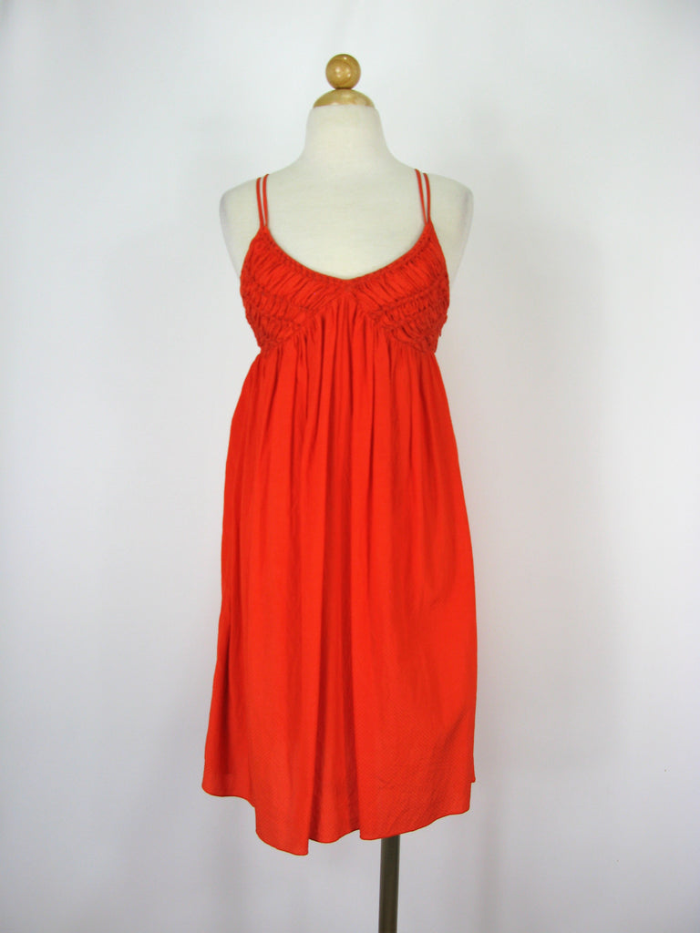 Armani Exchange Smocked Triangle Top Strappy Sundress 0
