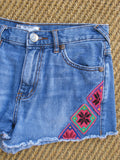 Free People Embroidered Denim Cut Offs 25 - ruby & sofia