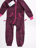 OnePiece Norwegian Norway Hectagon Kids Jumpsuit Raspberry 4/5 110 NWT - ruby & sofia