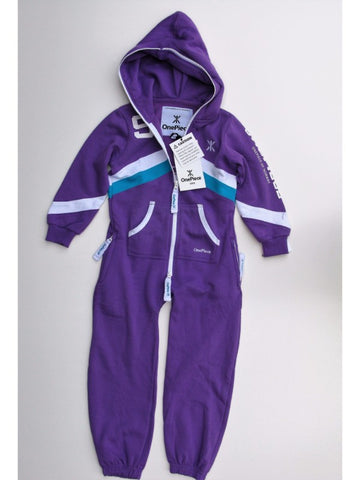 OnePiece Norwegian Norway #9 Kids Jumpsuit Purple 4/5 110 NWT