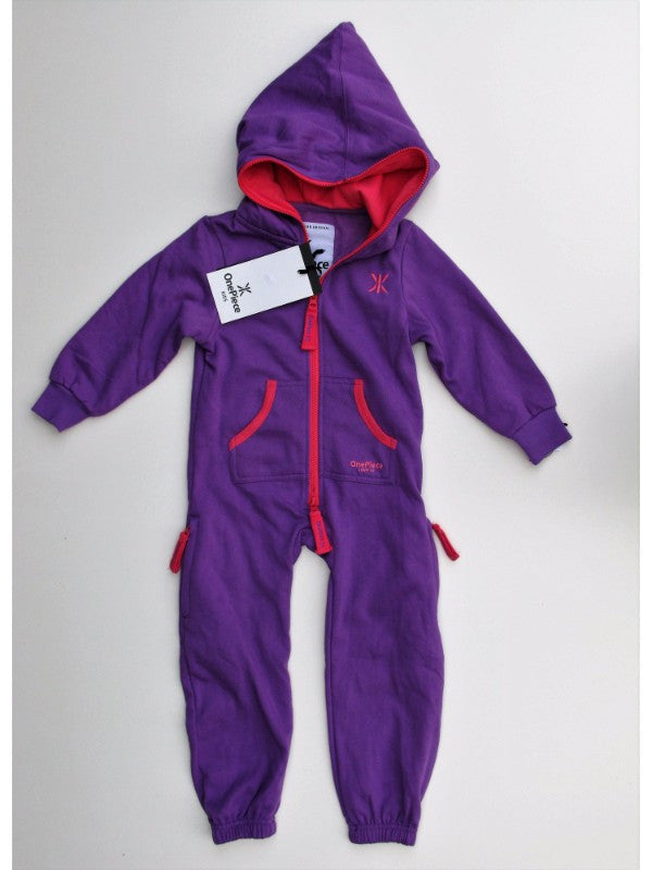 OnePiece of Norway Original Solid Kids Jumpsuit Purple NWT