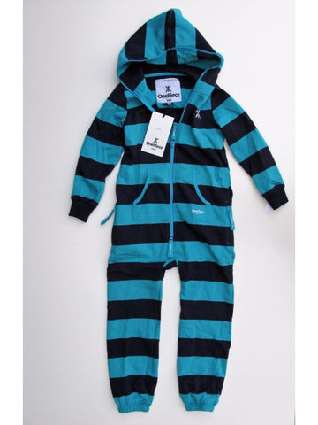 OnePiece Norwegian Norway Original Stripe Kids Jumpsuit Azure/Navy 6/7 122 NWT