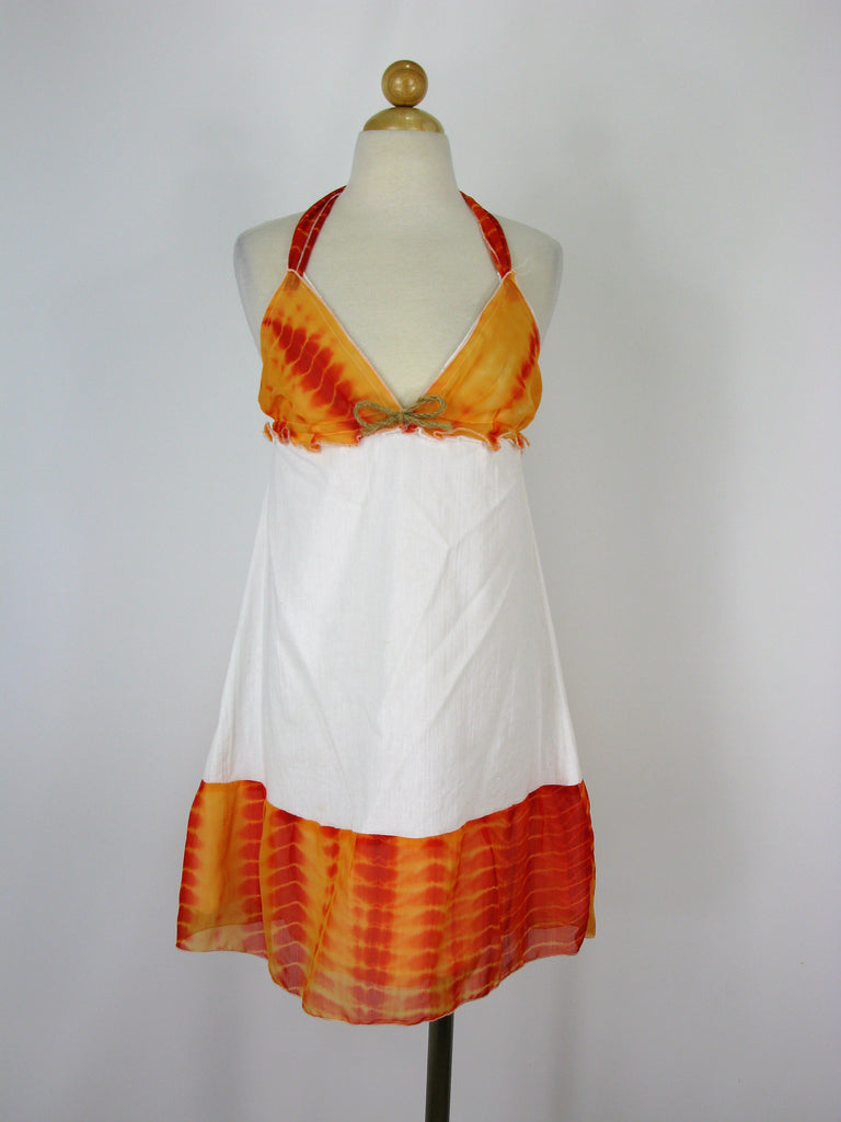 Eloges for Erica Flores Gauzey Cotton Halter Sundress S