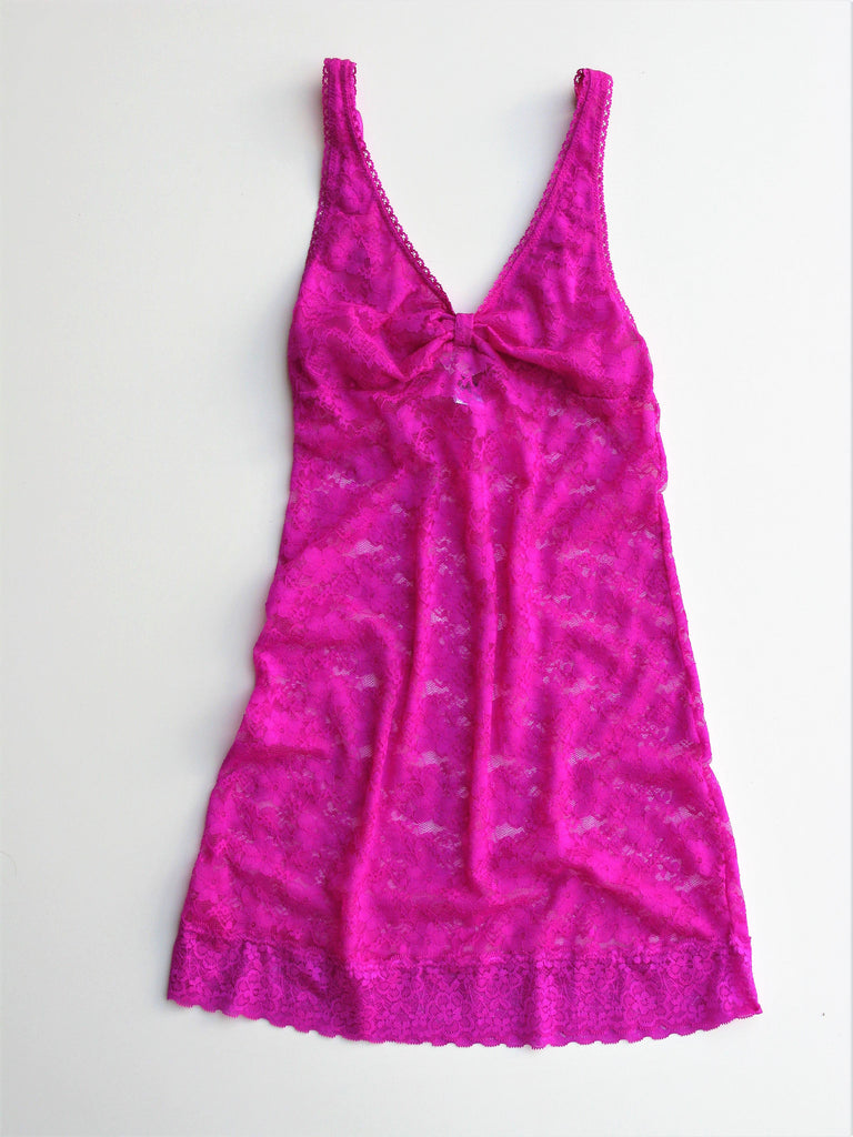 Rampage Hot Pink Lace Chemise S NWOT