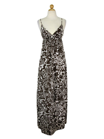 Maria Bianca Nero Butterfly Print Silk & Cotton Maxi Dress P