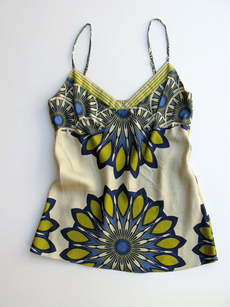 Vince Medallion Print Silk Camisole Top 10