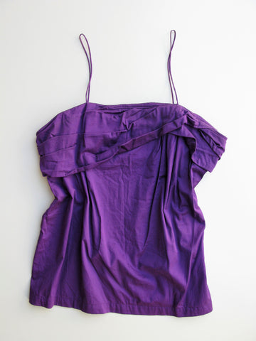 Go International Asymmetrical Pleated Camisole Top XL
