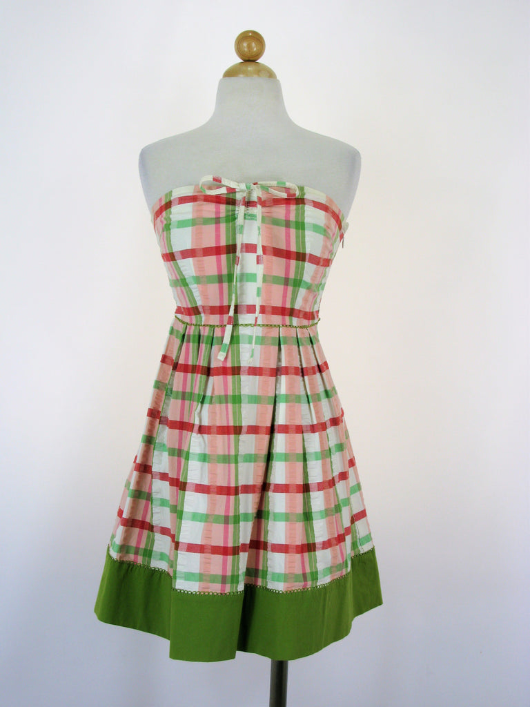 Juicy Couture Plaid Garden Party Madras Dress  P