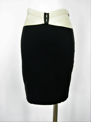 Elizabeth & James Hall Stretch Wool Bandage Waist Pencil Skirt 4