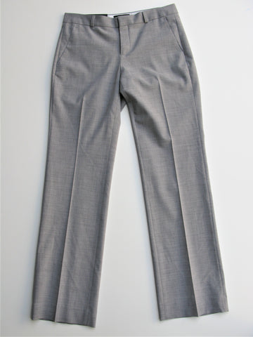 Banana Republic 'Logan' Light Heather Gray Stretch Wool Trousers 6 NWT