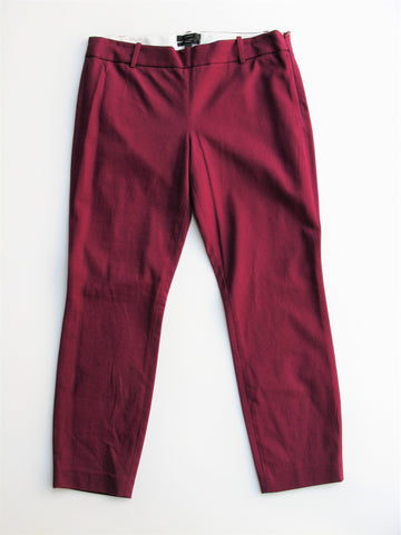 J Crew Minnie Stretch Capri in Pinot Noir 6 NWT