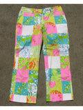 Lilly Pulitzer Seashore Patchwork Print Cotton Capri Pants