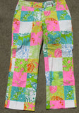 Lilly Pulitzer Seashore Patchwork Print Cotton Capri Pants 6 - ruby & sofia