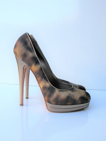 Casadei Abstract Leopard Print Stiletto Platform Pumps 10