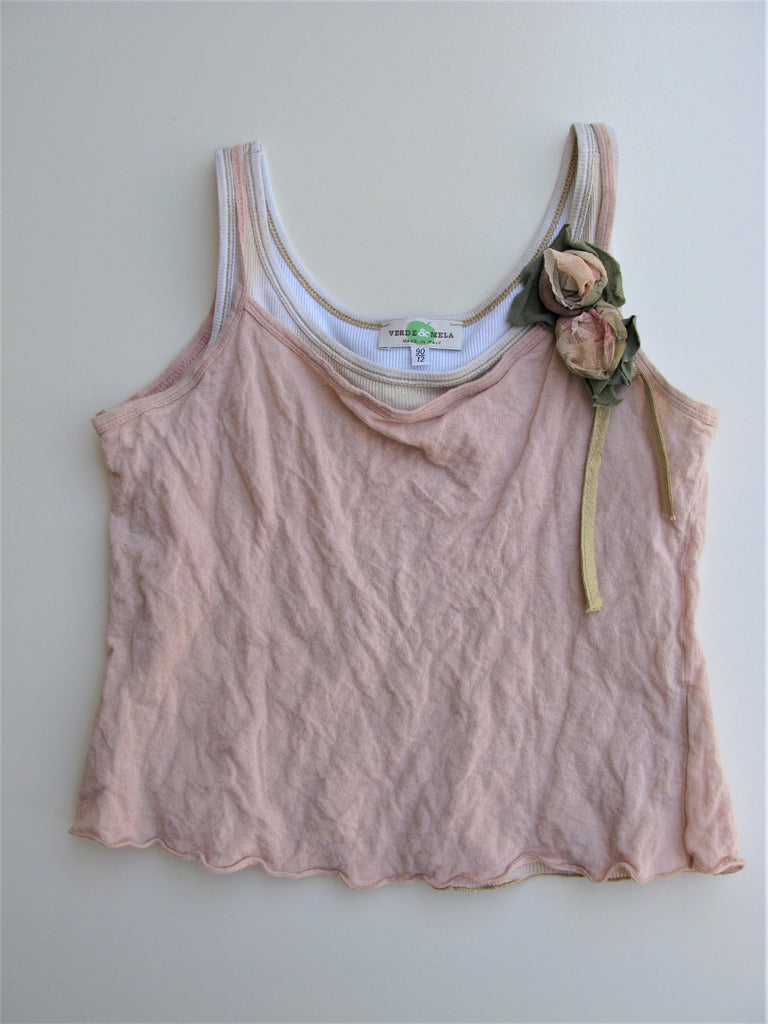 Italian Label Verde & Mela Girls Layered Tank Top 12