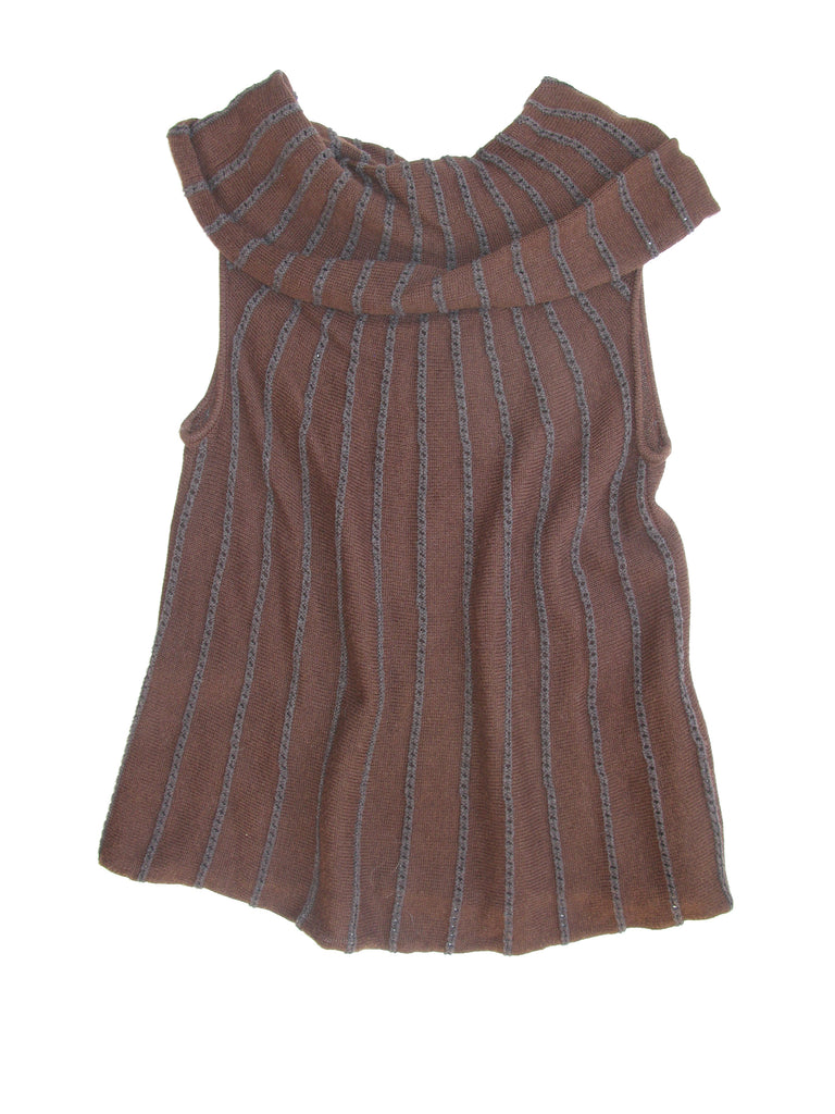 "Indigenous ""one weave"" Sleeveless Cowl Neck Sweater S"